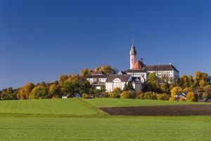 Germany, Bavaria, Upper Bavaria, 'FŸnf Seen Land' (Region), Andechs, Autumn Landscape with Andechs by Udo Siebig