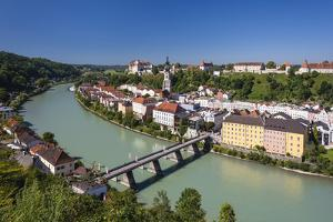 Germany, Bavaria, Upper Bavaria, Inn-Salzach, Burghausen by Udo Siebig