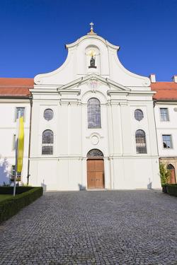 Germany, Bavaria, Upper Bavaria, Inntal (Valley), Rott, Rococo Church, Frontal by Udo Siebig