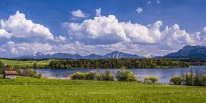 Germany, Bavaria, Upper Bavaria, Pfaffenwinkel, Egling by the Riegsee Lake by Udo Siebig