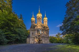 Germany, Hesse, Rheingau Region, Wiesbaden, Neroberg, Russian-Orthodox Church by Udo Siebig