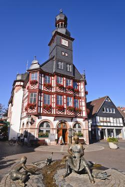 Germany, Hessen, Bergstra§e (Region) Lorsch, Town Hall, Front View by Udo Siebig