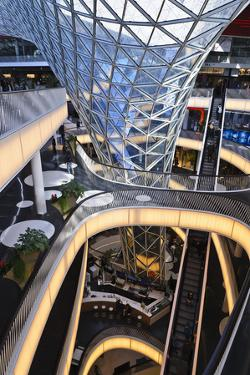 Germany, Hessen, Frankfurt, Mall, Inside by Udo Siebig