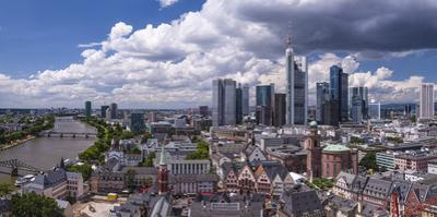 Germany, Hessen, Frankfurt on the Main, Panoramic View from the Cathedral on the Main, Ršmerberg by Udo Siebig