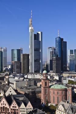 Germany, Hessen, Frankfurt, Skyline, Sky, Blue, St. Paul's Church by Udo Siebig