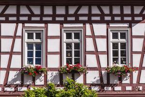 Germany, Hessen, Taunus, German Timber-Frame Road, Idstein, Kšnig-Adolf-Platz, Timber-Framed Facade by Udo Siebig