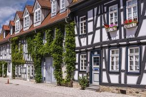 Germany, Hessen, Taunus, German Timber-Frame Road, Idstein, Old Town, Timber-Framed Facades by Udo Siebig