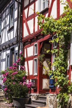 Germany, Hessen, Taunus (Region), German Framework Road, Idstein, Old, Half-Timbered Facades by Udo Siebig