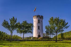 Germany, Rhineland-Palatinate, Rheinhessen Region (Rhine-Hesse), Nierstein, Niersteiner Warte by Udo Siebig