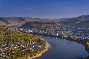 Germany, Rhineland-Palatinate, Upper Middle Rhine Valley, Boppard, Rhine Loop East Part by Udo Siebig