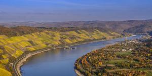 Germany, Rhineland-Palatinate, Upper Middle Rhine Valley, Boppard, Rhine Loop West Part by Udo Siebig