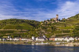 Germany, Rhineland-Palatinate, Upper Middle Rhine Valley, Kaub, Rhine Valley by Udo Siebig