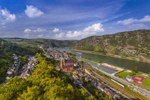 Germany, Rhineland-Palatinate, Upper Middle Rhine Valley, Oberwesel, Rhine Valley by Udo Siebig