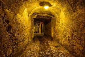 Italy, Veneto, Lake Garda, Malcesine, Old Town Alley by Udo Siebig