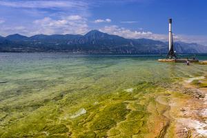 Italy, Veneto, Lake Garda, Torri Del Benaco, Lakeside Promenade by Udo Siebig