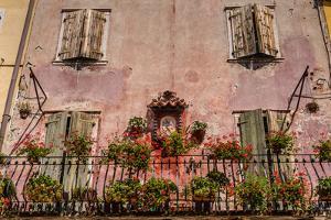 Italy, Veneto, Lake Garda, Torri Del Benaco, Old Town, House Facade, Madonna by Udo Siebig