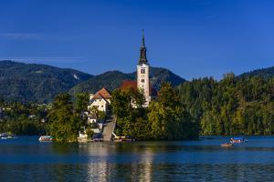 Slovenia, Gorenjska, Upper Carniola, Bled, Lake Bled by Udo Siebig