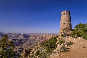 The USA, Arizona, Grand canyon National Park, South Rim, Desert View, Desert View Watchtower by Udo Siebig