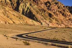 The USA, California, Death Valley National Park, Artists drive with Artists palette by Udo Siebig