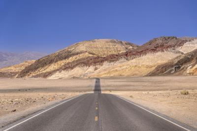 The USA, California, Death Valley National Park, Badwater Road with Amargosa Range by Udo Siebig