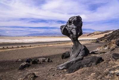 The USA, California, Death Valley National Park, Hoodoo in the Bad Water Road close Golden canyon by Udo Siebig