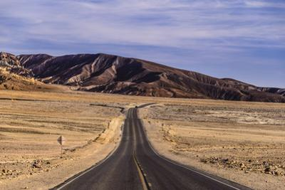 The USA, California, Death Valley National Park, seal Bad Water Road Golden canyon by Udo Siebig