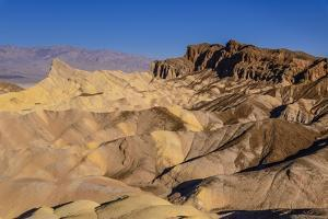 The USA, California, Death Valley National Park, Zabriskie Point, badlands against Panamint Range by Udo Siebig
