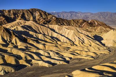 The USA, California, Death Valley National Park, Zabriskie Point, badlands against Panamint Range by Udo Siebig