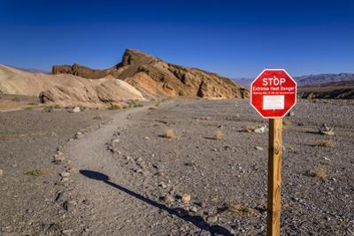 The USA, California, Death Valley National Park, Zabriskie Point, badlands footpath by Udo Siebig