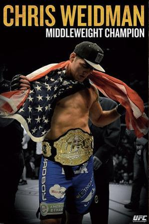 UFC - Chris Weidman Sports Poster