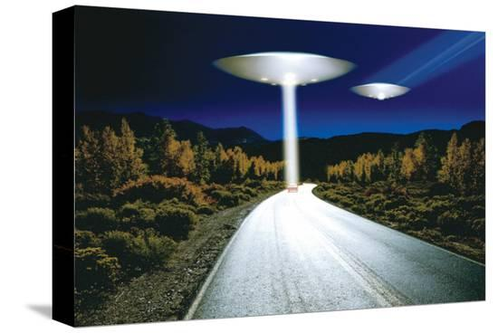 Ufo Invasion--Stretched Canvas Print