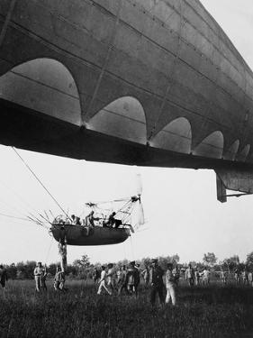 A Dirigible Takes Off from Campalto, in the Province of Venice by Ugo Ojetti