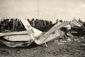An Fallen Austrian Aiplane in Friuli During World War I by Ugo Ojetti