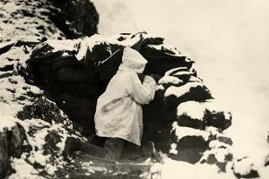 An Italian Soldier Posted on Lookout on Monte Nero During World War I by Ugo Ojetti