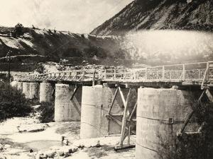 Bridge over the River Isonzo, Near Plezzo in Slovenia. the Structure Was Bombed During WWI by Ugo Ojetti