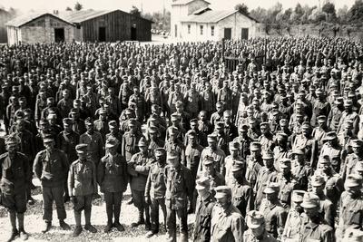 Camp of Austrian Prisoners in Bagnaria Arsa During World War I