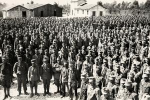 Camp of Austrian Prisoners in Bagnaria Arsa During World War I by Ugo Ojetti