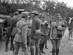 General Cadorna and General Porro Visit English Batteries During World War I by Ugo Ojetti