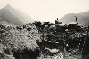 Italian Soldiers of World War I on Lookout in the Vicinity of Plezzo by Ugo Ojetti