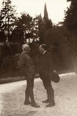 Louis Barthou Speaks with General Luigi Cadorna, in the Garden of the Supreme Military Command by Ugo Ojetti