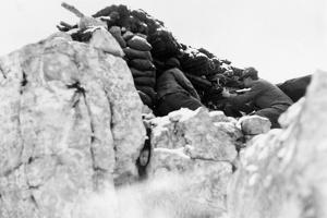 Machine-Gun Post at an Altitude of Two Thousand Meters on Monte Nero During World War I by Ugo Ojetti