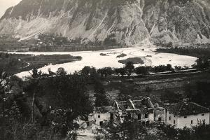The Isonzo River at Zaga During World War I by Ugo Ojetti