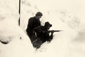 Two Soldiers Posted on Monte Nero During World War I by Ugo Ojetti