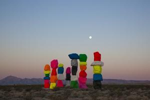 Ugo Rondinone: Seven Magic Mountains, Las Vegas Nevada, 2016 (Official Authorized Print)