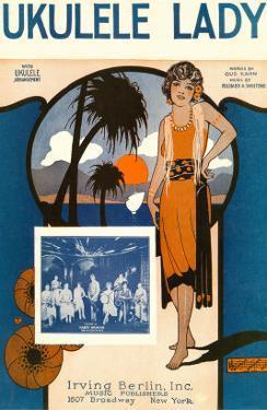 Ukulele Lady, Sheet Music, Art Deco