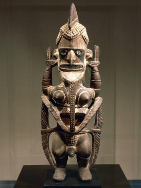 Uli, Wood Carving, Height 150 Cm, New Ireland, Papua New Guinea, 18th-19th Century