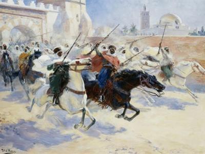 Horsemen Leaving the City by Ulpiano Checa Y Sanz