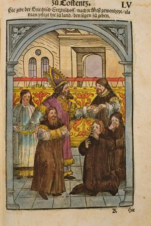A Scene from the Council of Constance, from 'Chronik Des Konzils Von Konstanz'