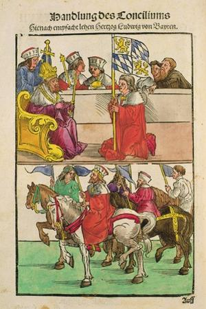 The Duke of Bayern Receives His Feudal Rights from the Emperor at the Council of Constance