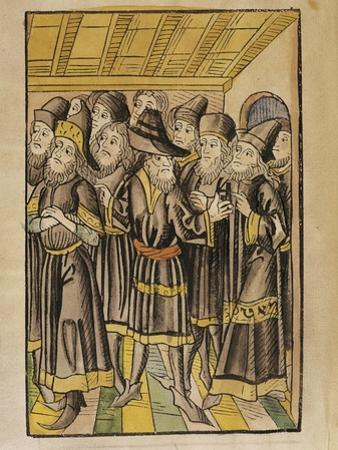 The Moldavian Delegation, from the 'Chronicle of the Council of Constance', Published 1483
